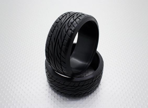 01:10 Schaal Hard Plastic Compound CR-Blade Drift Tires (2 stuks)