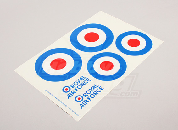 Schaal National Air Force Insignia stickervel - UK (grote type A)
