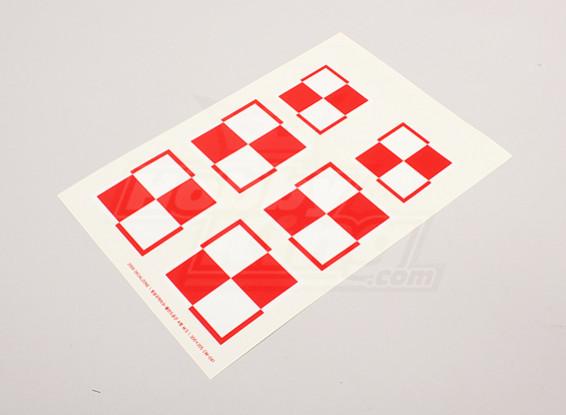 Schaal Nationale Insignes van de Luchtmacht Sticker Sheet - Polen