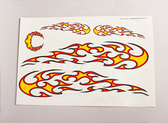 Tribal Flame Decal Sheet Large 445mmx300mm