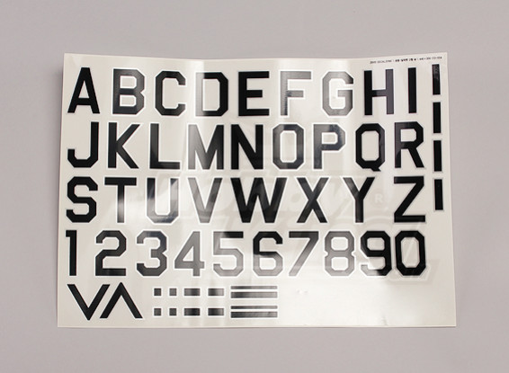 Letters / symbolen Zwart-Zilver Luftwaffe stijl (Med) Stijl 1