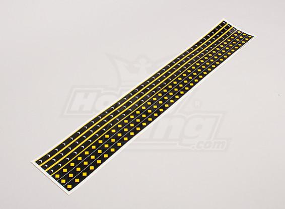Decal Strips F-14 / F-18 Style Diamond / Pijl