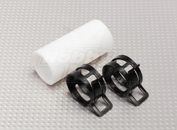 Teflon Koppeling met clips (25mm Pipe) voor Muffler