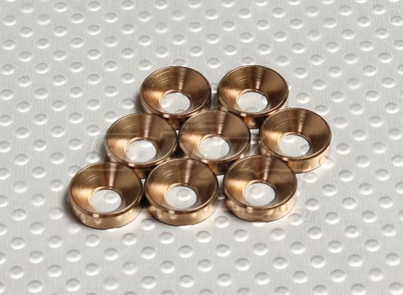 Verzonken Washer geanodiseerd aluminium M5 (Bronze Colour) (8 stuks)