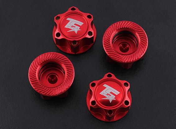 TrackStar 1/8 Schaal Aluminium Wheel Nuts (4 stuks / zak)