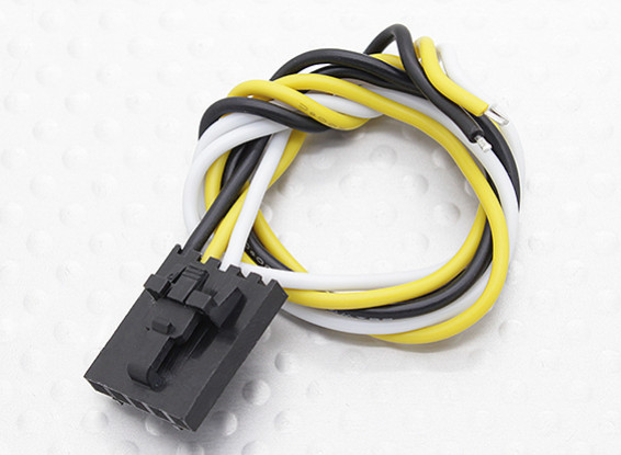 Molex 3 pins kabel Male Connector met 230mm x 26 AWG Wire.