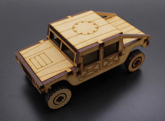 Militaire Vrachtwagen Laser Cut Wood Model (KIT)
