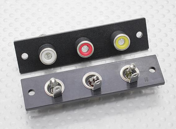 Triple RCA Socket Board (rood / geel / wit) 2pc