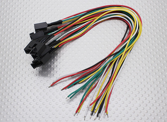 Molex 5 pins kabel Female connector met 230mm x 26AWG Wire (5-delige)