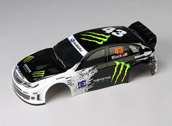 10/01 IMRREZA WRX 10 Finished Body Shell w / LED Buckets