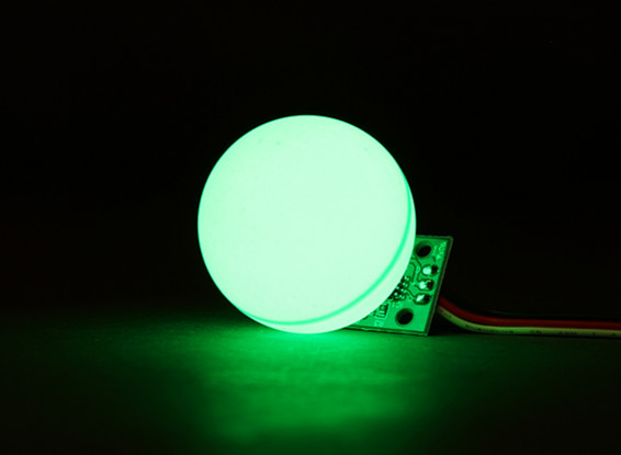 LED PCB Strobe Green 3.3 ~ 6.0V met Bal Diffuser