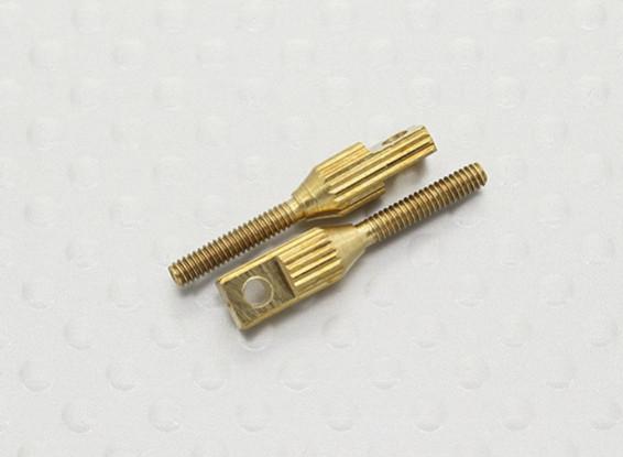 Pull-pull / 2mm kwiklink Quick Link koppelingen - 20mm Lengte