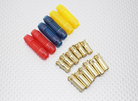 6mm RCPROPLUS Supra X Gold Bullet Gepolariseerde connectoren (6 paar)