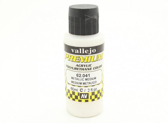 Vallejo Premium Color Acrylverf - Metallic Medium (60ml)
