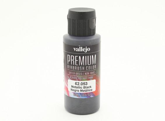 Vallejo Premium Color Acrylverf - Metallic Black (60ml)