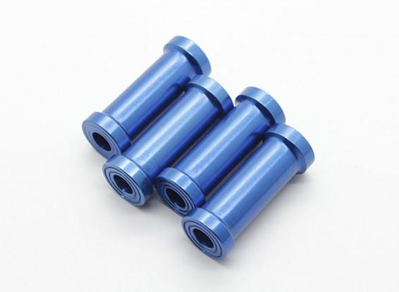 30mm CNC Aluminium Stand-Offs (blauw) 4 stuks