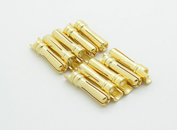 Man Vergulde Spring Connector 4mm (10st / bag)