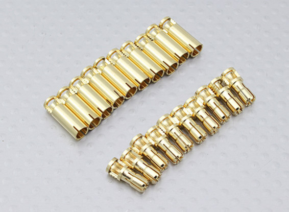4mm RCPROPLUS Supra X Gold Bullet Connectors (10 paar)