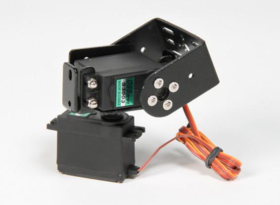 Heavy Duty Pan en Tilt Base Kit met 160deg Servo Robotic Limb of Antenna Tracking (Short Arm)