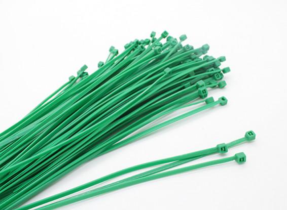 Cable Ties 160 x 2.5mm Green (100 stuks)