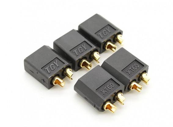 Black XT60 Man (5pc)