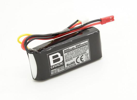 B-grade 800mAh 2S 35C LiPoly Battery