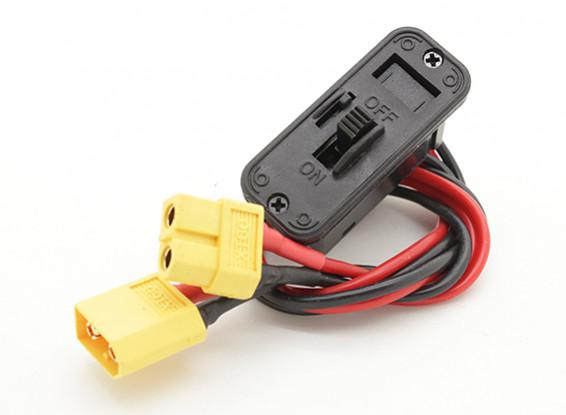 Heavy Duty Switch harnas met XT60 Plug / Socket en gebouwd in opladen Socket