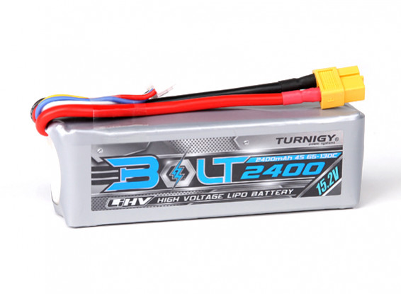 Turnigy Bolt 2400mAh 4S 15.2V 65 ~ 130C High Voltage LiPoly Pack (LiHV)