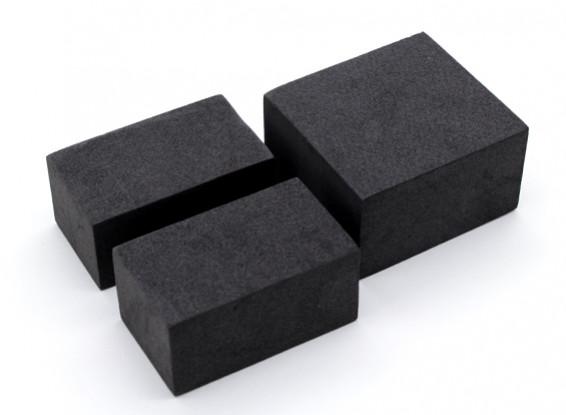 """Shorty"" Battery Pack Foam Block Set voor 1/10 Auto / Truck / Buggy"