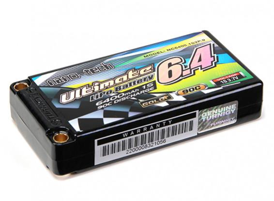 Turnigy nano-tech Ultimate 6400mAh 1S2P 90C Hardcase Pack (ROAR & BRCA Goedgekeurd)