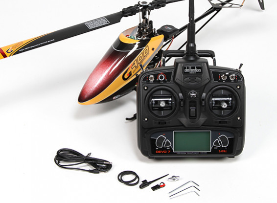 Walkera G400 GPS Series 6CH Flybarless RC Helicopter w / Devo 7 (Modus 1) (Ready to Fly)