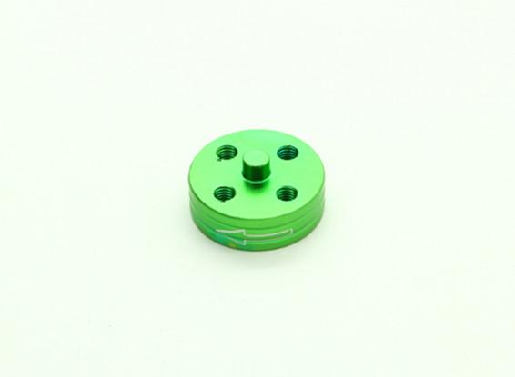 CNC Aluminium Quick Release Self-Aanscherping Prop Adapter - Green (Prop Side) (tegen de klok)