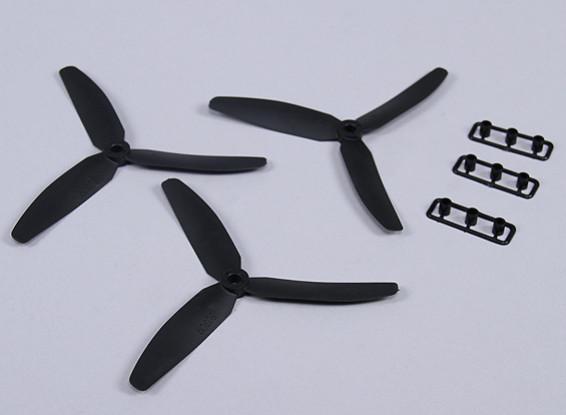 Hobbyking ™ 3-Blade Propeller 5x3 Black (CW) (3 stuks)
