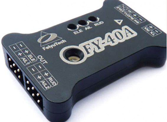FY-40A Fixed Wing Flight Stabilization Controller (w / Self-Leveling)