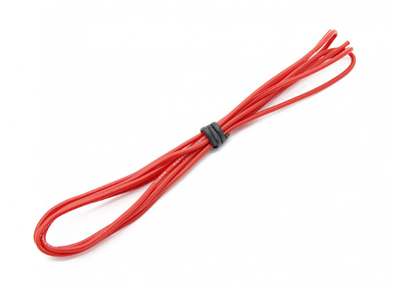 Turnigy Hoge kwaliteit 24AWG Silicone Wire 1m (Rood)