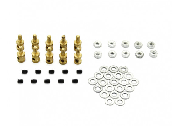 Brass Koppeling Stopper Voor 1.2mm stuurstangen (10st)