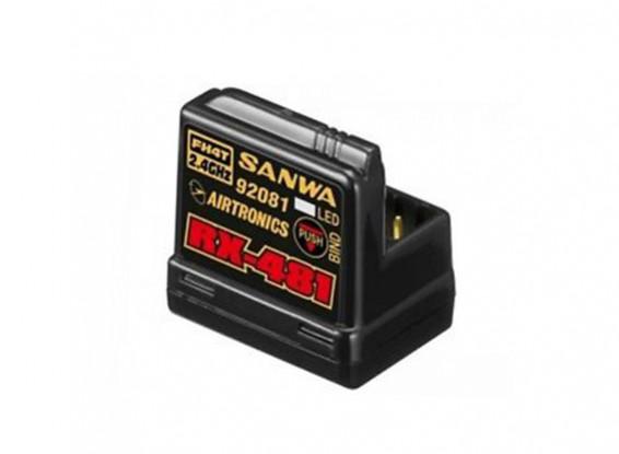 Sanwa RX-481 2.4GHz FH3 / FH4T Super Response 4 kanaals receiver met ingebouwde antenne