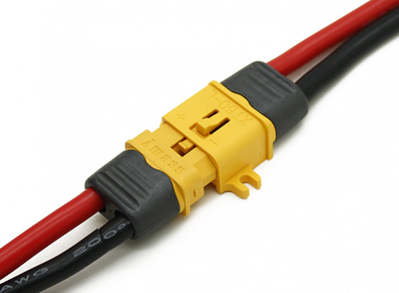 XT60 Connector Man / Vrouw met Lock en isolerende Cap (5 paar)