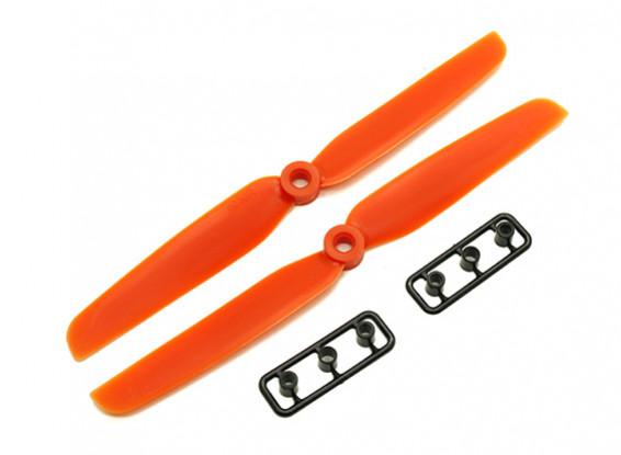 Gemfan 6030 GRP / Nylon Schroeven CW / CCW Set (Orange) 6 x 3