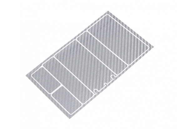 TrackStar Decorative Batterij Cover Panels voor 2S Shorty Pack Silver Carbon Pattern (1 Pc)