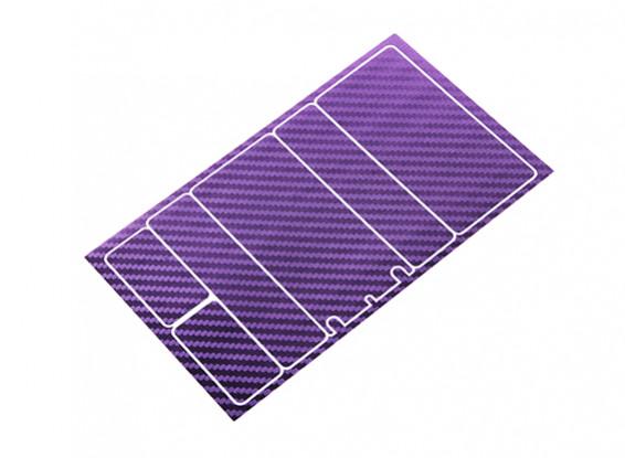 TrackStar Decorative Batterij Cover Panels voor 2S Shorty Pack Metallic Paars Carbon Pattern (1 Pc)