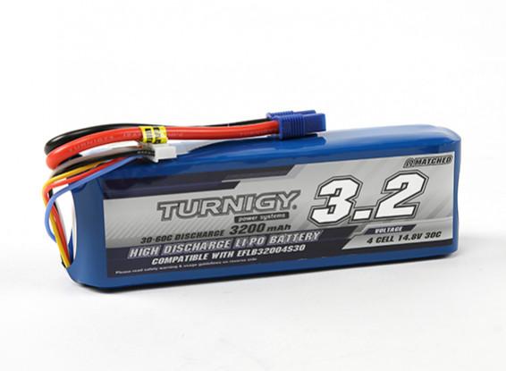 Turnigy 3200mAh 4S 30C LiPoly Pack w / EC3 (E-flite Compatible EFLB32004S30)