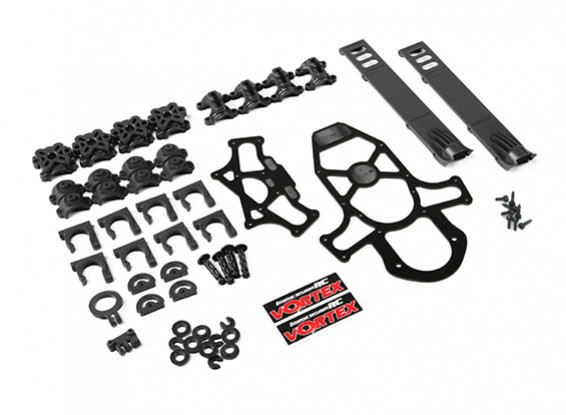 ImmersionRC - Vortex 285 Crash Kit 1, Plastic Parts - Black
