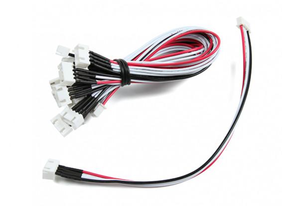 JST-XH 3S Wire Uitbreiding 20cm (10st / bag)