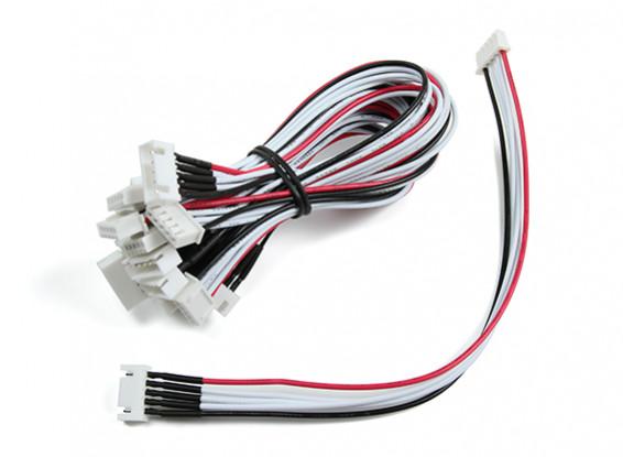 JST-XH 4S Wire Uitbreiding 20cm (10st / bag)