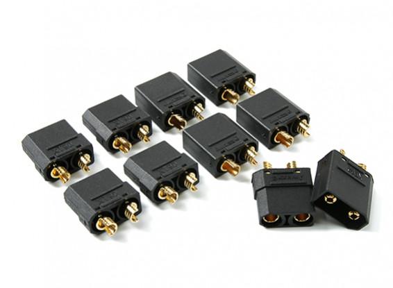 Nylon XT90 Connectors Man / Vrouw (5 paar) Zwart