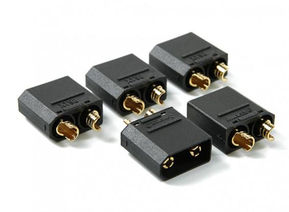 Nylon XT90 Connectors Man (5 stuks / zak) Black