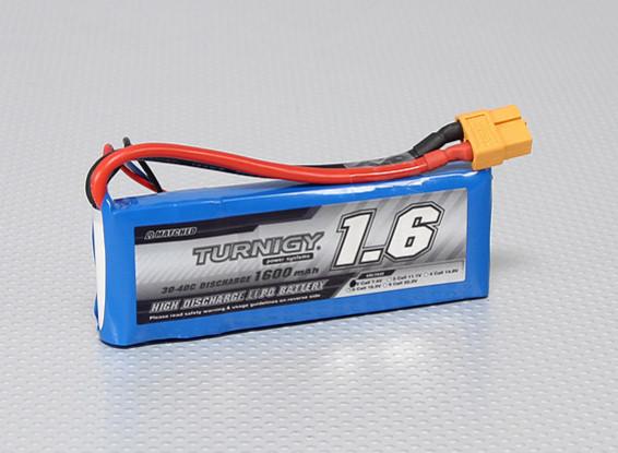 Pack Turnigy 1600mAh 2S 30C Lipo