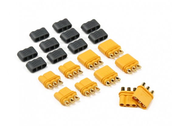 MR30 - 2.0mm 3 Pin Motor ESC Connector (30A) Man / Vrouw (5 sets / zak)