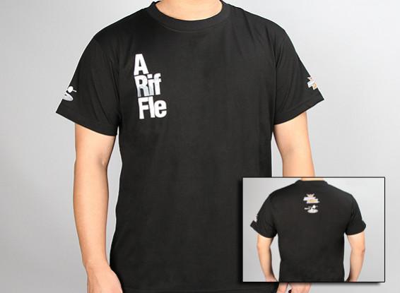 flitetest T-shirt Een Rifle ARF - Black (X-Large)